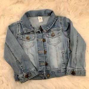 Carter's 4t denim jean jacket stone wash distress